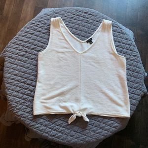 Ann Taylor tank with tie front